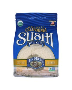 Lundberg Family Farms Organic White Sushi Rice  - Case of 6 - 4 LB