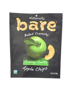 Bare Fruit Apple Chips - Granny Smith - Case of 12 - 3.4 oz