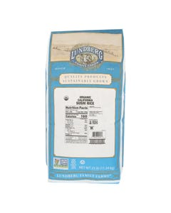 Lundberg Family Farms Organic Sushi Short Grain White Rice - Single Bulk Item - 25LB