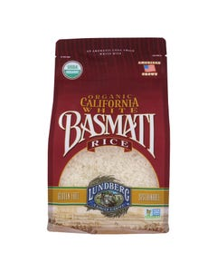 Lundberg Family Farms Organic White Basmati Rice - Case of 6 - 2 lb.