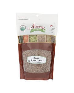 Aurora Natural Products - Organic Brown Lentils - Case of 10 - 22 oz.