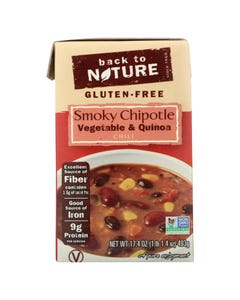 Back To Nature Vegetable & Quinoa Chili - Smoky Chipotle - Case of 6 - 17.4 oz