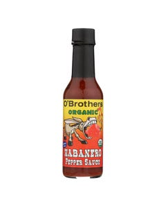 O'Brothers Hot Sauce Habanero Pepper Sauce - Case of 12 - 5 FZ