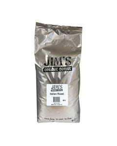 Jim's Organic Coffee Whole Bean Italian Roast - Single Bulk Item - 5LB