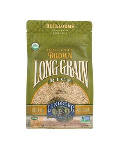 Lundberg Family Farms Organic Long Grain Brown Rice - Case of 6 - 1 lb.
