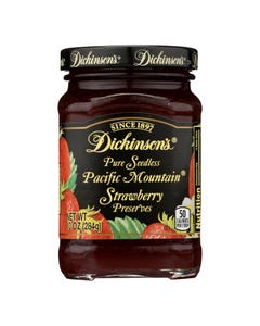 Dickinson - Pure Seedless Pacific Mountain Strawberry Preserves - Case of 6 - 10 oz.