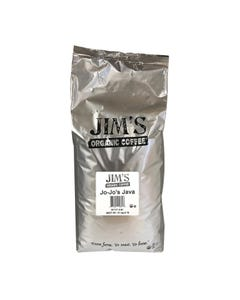 Jim's Organic Coffee Whole Bean JoJo's Java - Single Bulk Item - 5LB