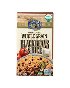 Lundberg Family Farms Organic Whole Grain - Black Beans and Rice - Case of 6 - 6 oz.