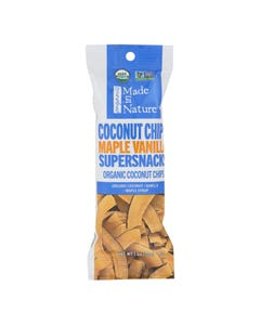 Made In Nature Organic Coconut Chip Maple Vanilla Supersnacks   - Case of 10 - 1 OZ