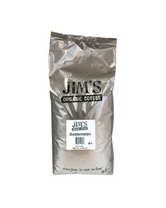 Jim's Organic Coffee Whole Bean Guatemalan - Single Bulk Item - 5LB