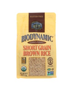 Lundberg Family Farms Organic Rice - Short Grain Brown - Case of 6 - 1 lb.