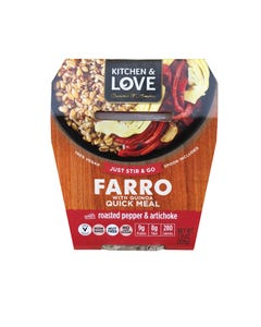 Cucina and Amore - Farro - Roasted Peppers - Artichoke - Case of 6 - 7.9 oz