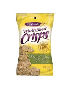 Crunchmaster Multi-Seed Crisps - Rosemary + Olive Oil - Case of 24 - 1.25 oz