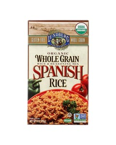 Lundberg Family Farms Organic Whole Grain Spanish Rice - Case of 6 - 6 oz.