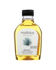 Madhava Honey - Agave Nectar Golden Lt - Case of 6 - 17 OZ