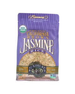 Lundberg Family Farms Organic California Brown Jasmine Rice - Case of 6 - 1 lb.