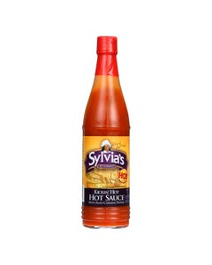 Sylvia's Kickin' Hot Hot Sauce With Aged Cayenne Pepper  - Case of 24 - 6 FZ