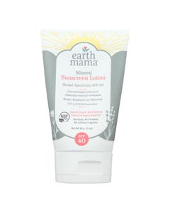 Earth Mama - Snscrn Lot Mineral Spf 40 - 1 Each - 3 OZ