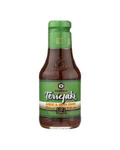 Kikkoman Teriyaki Sauce - Garlic and Green Onion - Case of 6 - 20.5 oz.