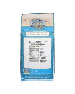 Lundberg Family Farms Organic Jasmine White Rice - Single Bulk Item - 25LB