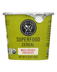 Vigilant Eats Maca Double Chocolate Superfood Cereal  - Case of 6 - 2.3 OZ