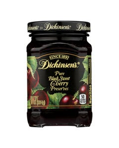 Dickinson - Pure Black Sweet Cherry Preserves - Case of 6 - 10 oz.