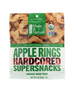 Made In Nature Apple Rings Organic Dried Fruit  - Case of 6 - 3 OZ