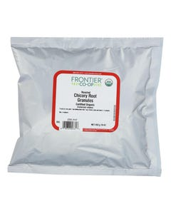 Frontier Herb Organic Roasted Chicory Root Granules - Single Bulk Item - 1LB