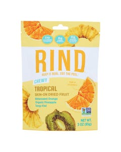 Rind Snacks - Dried Fruit Blend Tropical - Case of 12 - 3 OZ