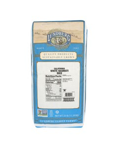 Lundberg Family Farms California White Basmati Rice - Single Bulk Item - 25LB