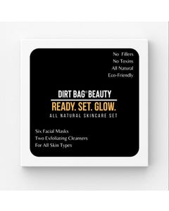 Dirt Bag Beauty Facial Masks + Exfoliating Cleansers 8 Piece Box Set-For All Skin Types- Count 1