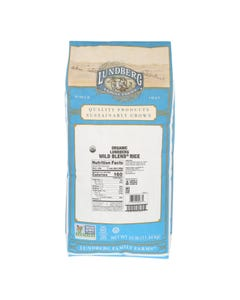 Lundberg Family Farms Organic Wild Blend Gourmet Brown Rice - Single Bulk Item - 25LB