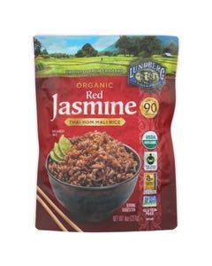 Lundberg Family Farms Organic Thai Rice - Red Jasmine - Case of 6 - 8 oz