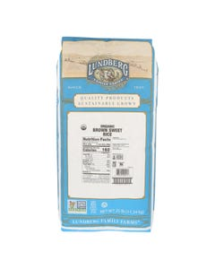 Lundberg Family Farms Organic Brown Sweet Rice - Single Bulk Item - 25LB