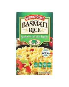 Heritage Select - Rice Spanish W/peppers - Case of 6 - 6.5 OZ