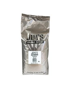 Jim's Organic Coffee - Whole Bean - Together Decaf - Bulk - 5 lb.