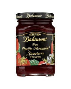Dickinson - Pure Pacific Mountain Strawberry Preserves - Case of 6 - 10 oz.