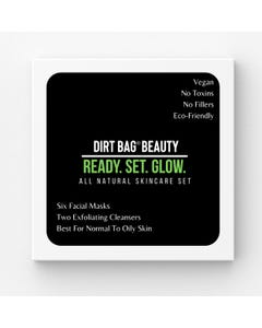 Dirt Bag Beauty Facial Masks + Exfoliating Cleansers 8 Piece Box Set- For Normal to Oily Skin Types- Count 1