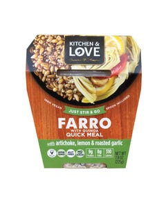 Cucina and Amore - Farro - Artichoke - Lemon - Garlic - Case of 6 - 7.9 oz