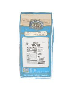 Lundberg Family Farms Organic White Long Grain Rice - Single Bulk Item - 25LB