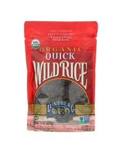 Lundberg Family Farms Quick Wild Rice - Case of 6 - 8 oz.