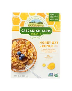 Cascadian Farm Cereal - Organic Corn Flakes Wheat Flakes Whole Grain Oats And Honey - Case of 10 - 13.5 oz.
