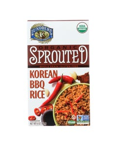 Lundberg Family Farms Organic Sprouted Rice - Korean BBQ - Case of 6 - 6 oz.