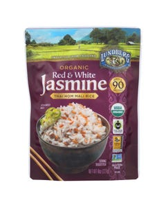 Lundberg Family Farms Organic Thai Rice - Red and White Jasmine - Case of 6 - 8 oz