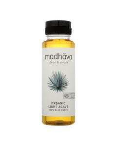 Madhava Golden Light Organic Blue Agave Sweetener  - Case of 6 - 11.75Z