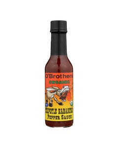 O'Brothers Hot Sauce Organic Pepper Sauce - Case of 12 - 5 FZ