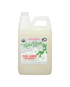 Rebel Green Laundry Detergent - Organic - Unscented - Case of 4 - 64 fl oz