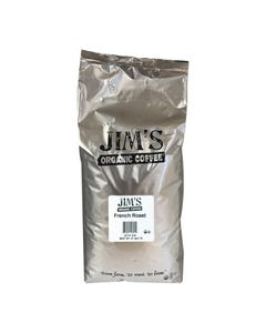 Jim's Organic Coffee - Whole Bean - French Roast - Bulk - 5 lb.