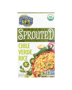 Lundberg Family Farms Organic Sprouted Rice - Chile Verde - Case of 6 - 6 oz