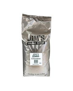Jim's Organic Coffee Whole Bean Colombian Santa Marta Montesierra - Single Bulk Item - 5LB